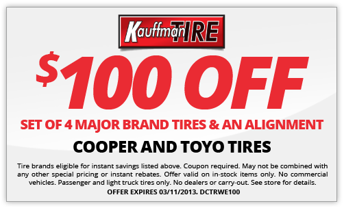 kauffman tire coupon 2013