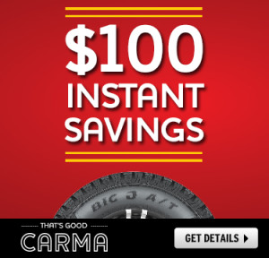 $100 Off Big O Tires Coupon