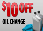 $10 Off with Big O Tires oil change coupon